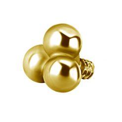 Trinity de acero quirúrgico con baño de oro de 24 Kt.